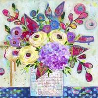 Love Letter Vase 3 Fine Art Print