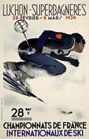French Ski Competition 1939 Fine Art Print