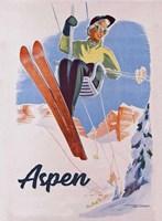 Vintage Aspen Ski Lift Fine Art Print