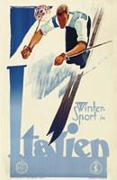 Winter Sport in Italien Fine Art Print