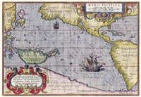 Italian Map Of The Pacific Ocean1589 Fine Art Print