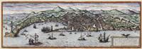 Map Of Geneva Switzerland Around 1600 Fine Art Print