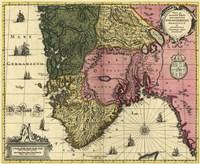 Map Of Norway Fine Art Print