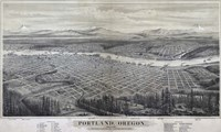 Map Of Portland Oregon 1879 Fine Art Print
