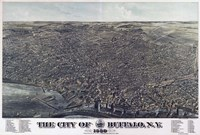 Map Of The City Of Buffalo Ny 1880 Fine Art Print