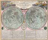 Map Of The Moon-Geographicus-Tabula Selenographica Moon Doppelmayr 1707 Fine Art Print