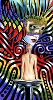 Rainbow Mask Fine Art Print