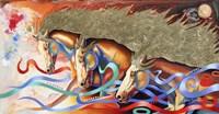 Stallions Of The Gods Fine Art Print
