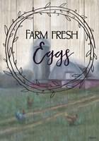 Farm Fresh Eggs Circle Fine Art Print