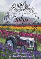 Tractoring Through The Tulips 1 Fine Art Print