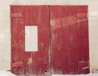 Red On White Fine Art Print