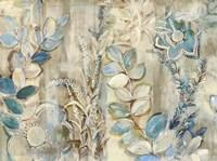 Aqua Leaves Fine Art Print