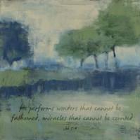 Wonders Verse Fine Art Print