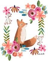 Floral Fox Fine Art Print