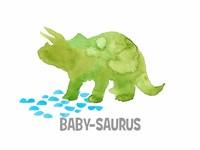Babysaurus Triceratops Fine Art Print