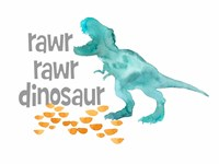 Rawr Rawr Dinosaur Fine Art Print