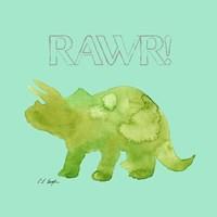 Green Triceratops Fine Art Print