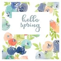 Hello Spring Florals Fine Art Print