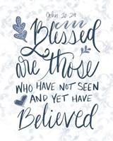 John 20:29 Handlettered Fine Art Print