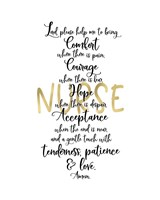Nurse Prayer Fine Art Print