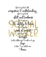 Social Worker Prayer Fine Art Print