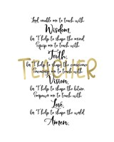 Teacher Prayer Fine Art Print