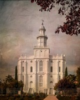 LDS St. George Temple Framed Print