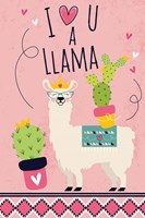 I Love You a Llama Fine Art Print