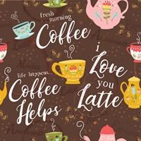 I Love You a Latte III Fine Art Print
