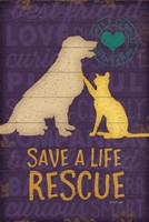Save a Life Rescue Fine Art Print