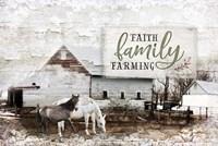 Faith, Family, Farming Fine Art Print