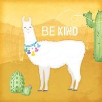Be Kind Llama Framed Print