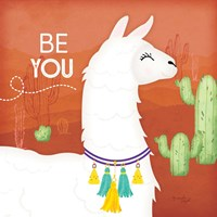 Be You Llama Framed Print