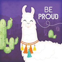 Be Proud Llama Framed Print