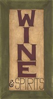 Wine and Spirits Fine Art Print
