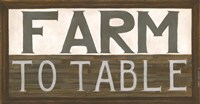Farm to Table Fine Art Print