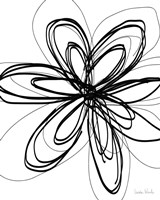 Black Ink Flower I Fine Art Print