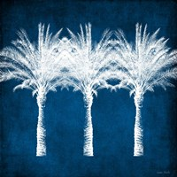 Indigo and White Palm Trees Fine Art Print