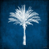 Single Indigo and White Palm Tree Fine Art Print