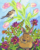 Bunny and Sparrow Fine Art Print