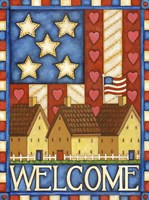 American Welcome Cottage Fine Art Print