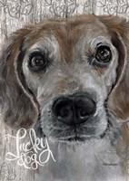 Lucky Dog Beagle Fine Art Print