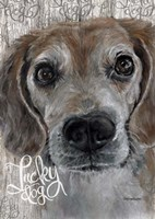 Lucky Dog Beagle Fine Art Print