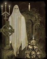 Halloween Graveyard - F Framed Print