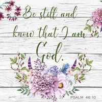 Garden Florals Bible Verse - A Fine Art Print