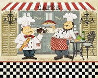 French Cafe Chefs Fine Art Print