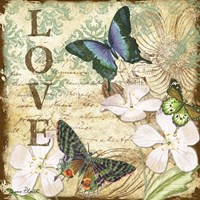 Inspirational Butterflies - Love Fine Art Print