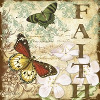 Inspirational Butterflies - Faith Fine Art Print
