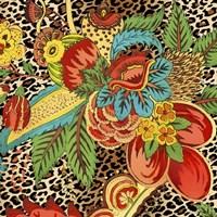 Floral Leopard 1 Framed Print