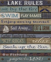 Lake Rules On Wood Fine Art Print